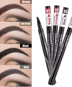 4 Heads Eyebrow Pencil Durable Waterproof Non-fading Liquid Long-lasting Natural Eyebrow Pencil Tattoo Pen Cosmetics Makeup