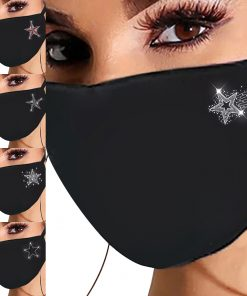 Adult Mask Fashionable Reuseable Flash Rhinestone Mask Breathable Outdoor Protection Antidust Mouth Caps Christmas Décoration