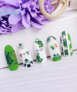 National Flag Series Nail Decals Chinese German American Irish Brazilian Flag Design Small Elements Foil Tip DIY Nail Manicure