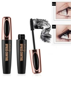 4D Silk Fiber Lash Mascara Waterproof Long-lasting Makeup Eyelash Extension Black Thick Lengthening Eyelashes Cosmetics TSLM1