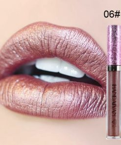6 Color Shimmer Lip Gloss Glitter Liquid Lipstick Glossy Shiny Lip Long Lasting Waterproof Lipgloss Shine