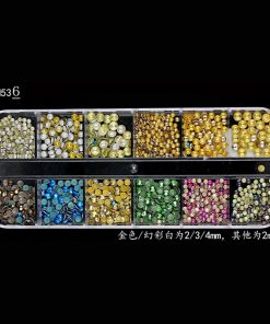 New Multi-size Nail Rhinestones 3D Crystal AB Clear Nail Stones Gems Pearl DIY Nail Art Decorations Gold Silver Rivet Rhinestone