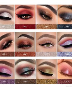 HANDAIYAN Metallic Glitter Eye Shadow Pallete Long-Lasting Waterproof Soft Shimmer Eye Makeup Cosmetic Maquillajes TSLM2