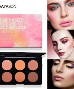 TEAYASON 6 Color Miss Rose Blush Glow Kit Face Powder Blusher Palette Makeup Contour Palette Maquillage Facial Cosmetics