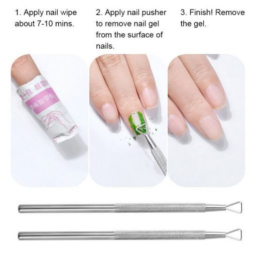 1 Pc Nail Art UV Gel Polish Remover Triangle Rod Stick Pusher Cuticle Manicure Tool Removal Tool Trimmer TXTB1