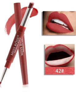 Miss Rose Double 2 in 1 Matte Lipstick liner Color 42
