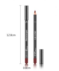 Brand 12 Colors Lip Liner Pencil Nude Matte Lipliner Moisturizing Waterproof Long Lasting Lipstick Liner Professional Makeup Kit