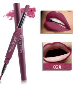Miss Rose Double 2 in 1 Matte Lipstick liner Color 02