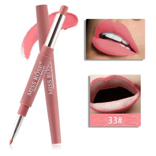 Miss Rose Double 2 in 1 Matte Lipstick liner Color 33