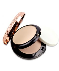 KAQIYA - 1002 Beauty Glazed Professional Full Coverage Long Lasting Makeup Face Powder Foundation Compact Powder Pressed Powder