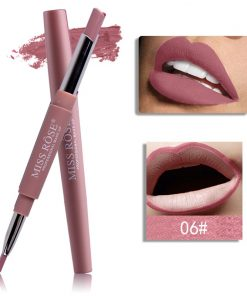 Miss Rose Double 2 in 1 Matte Lipstick liner Color 06